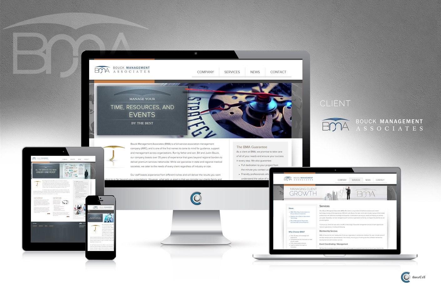 Bouck Management Associates - ThreeCell Web Design