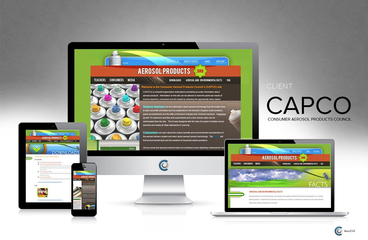 Consumer Aerosol Products Council - ThreeCell Web Design