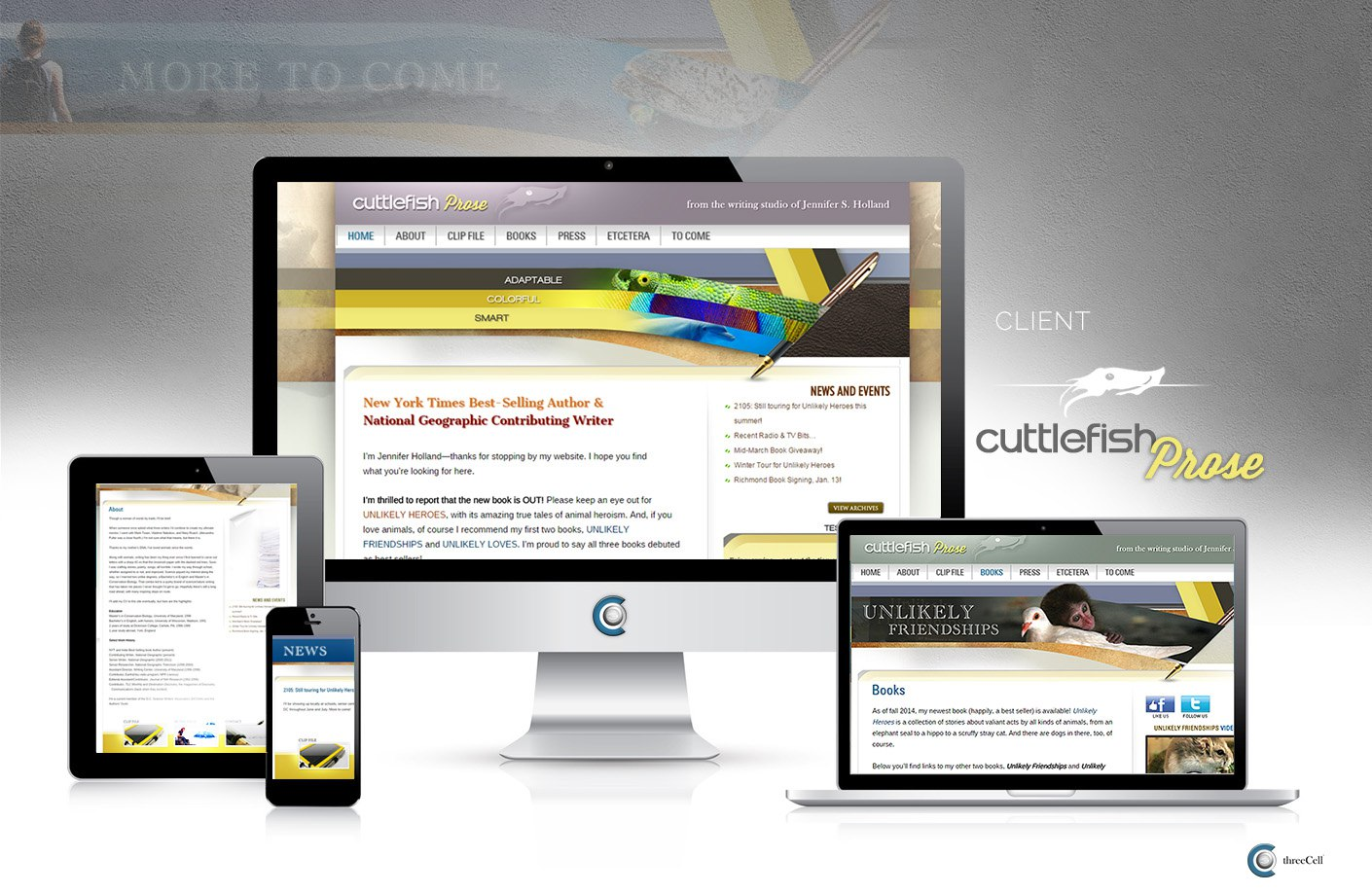 Cuttlefish Prose - ThreeCell Web Design
