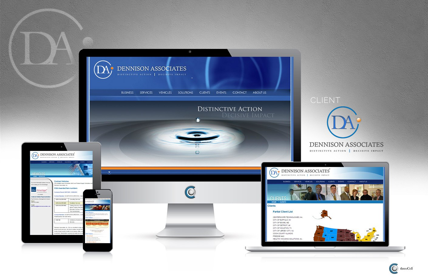 Dennison Associates - ThreeCell Web Design