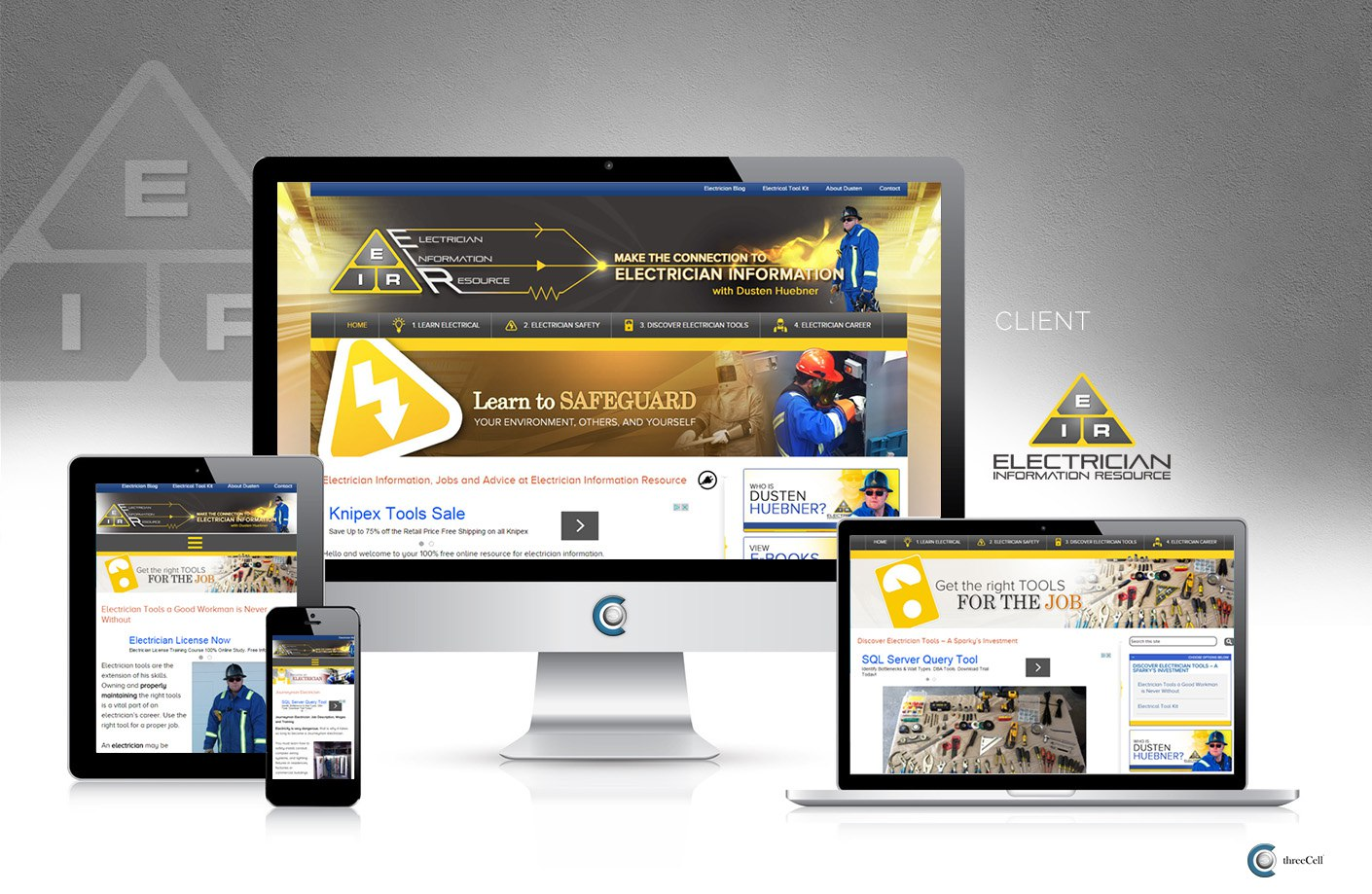 Electrician Information Resource - ThreeCell Web Design