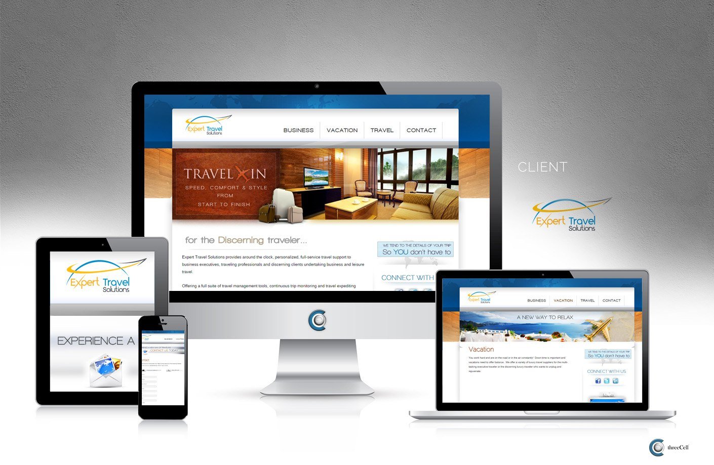 Expert Travel Solutions - ThreeCell Web Design