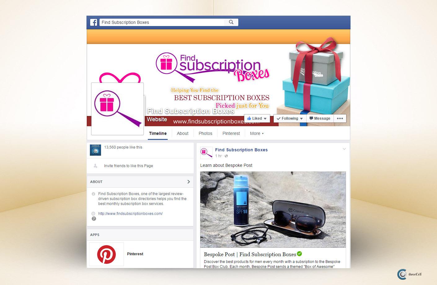 Find Subscription Boxes - Facebook Social Media Design