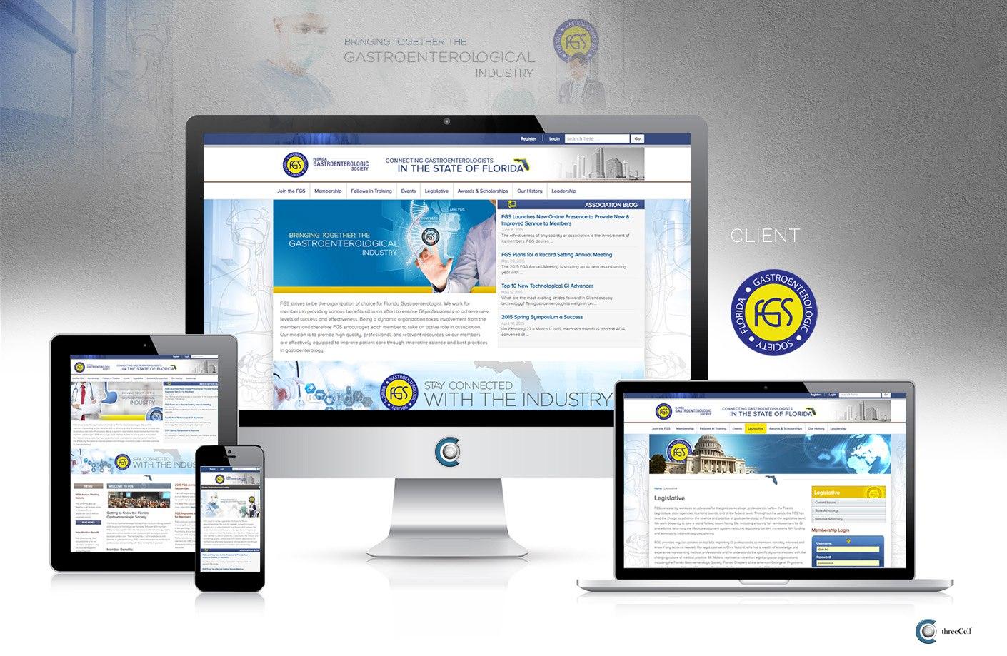 Florida Gastroenterologic Society - ThreeCell Web Design