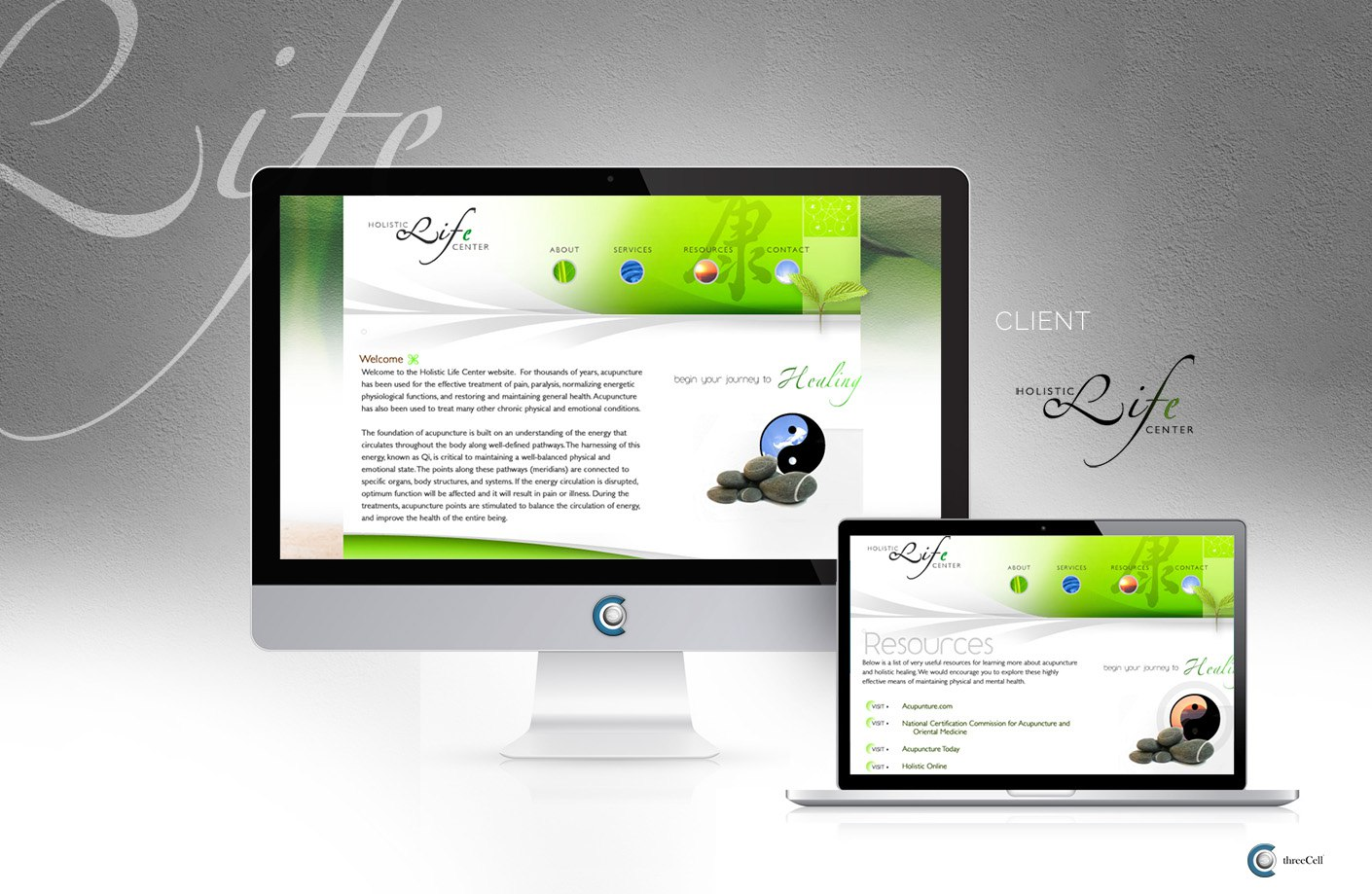 Holistic Life Center - ThreeCell Web Design