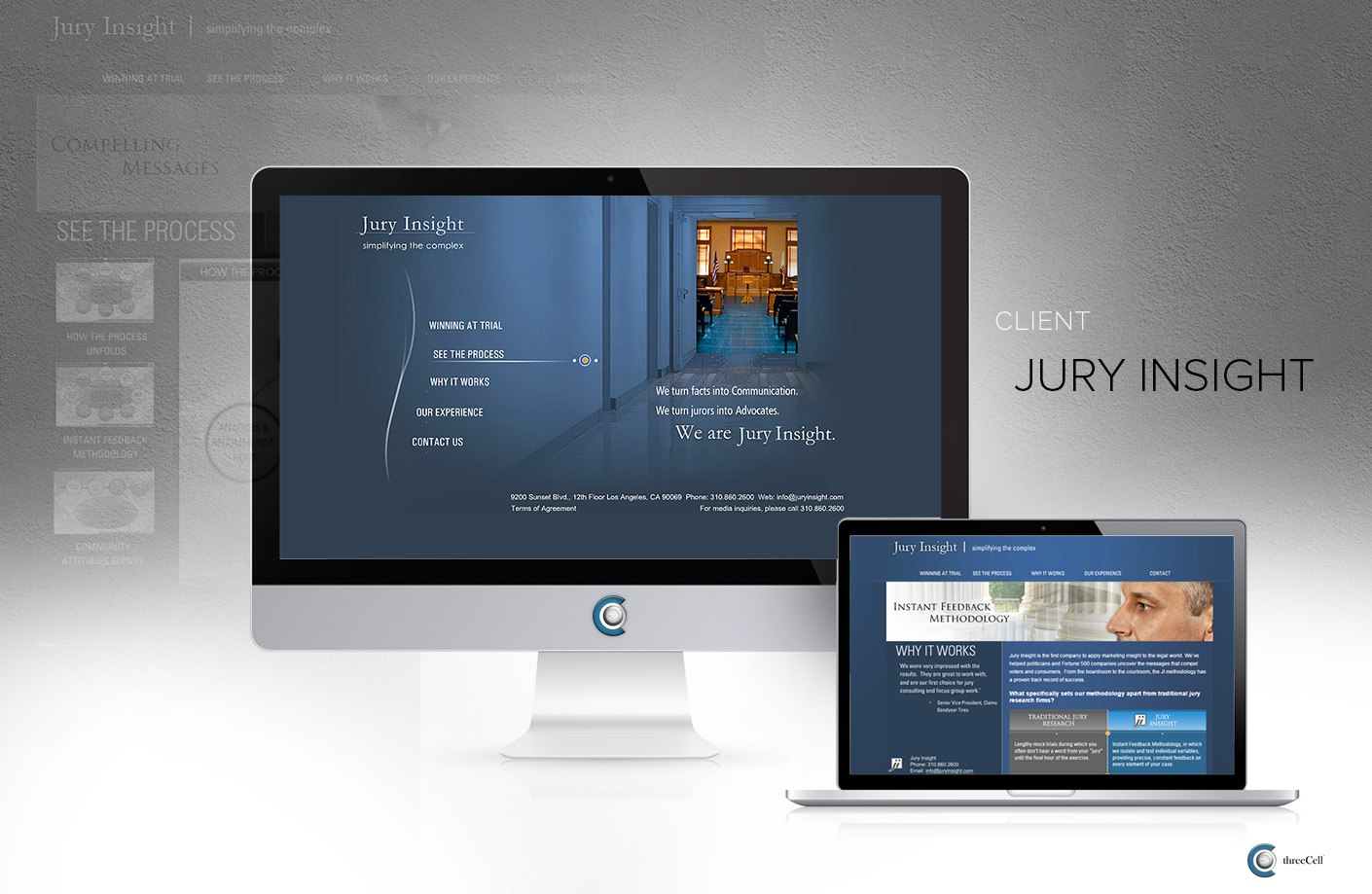 Jury Insight - ThreeCell Web Design