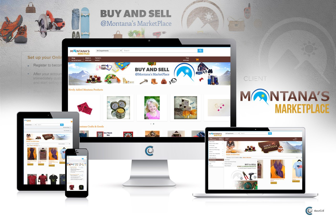 Montana's MarketPlace - Unique Montana Gifts - ThreeCell Web Design