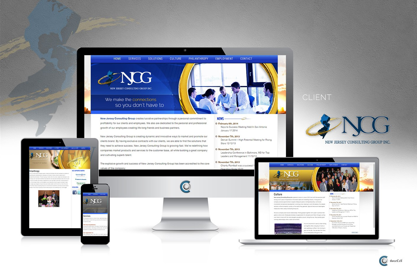 New Jersey Consulting Group - ThreeCell Web Design