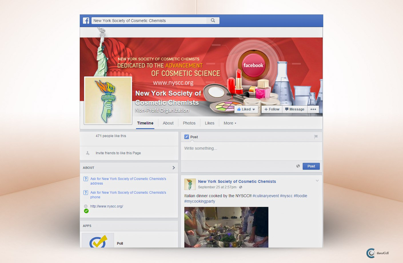 New York Society of Cosmetic Chemists - Facebook Social Media Design