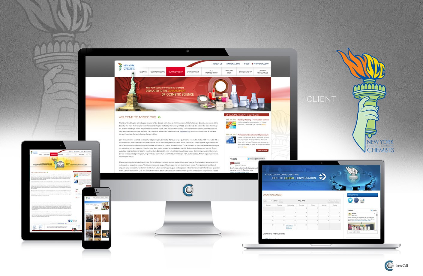 New York Society of Cosmetic Chemists - ThreeCell Web Design