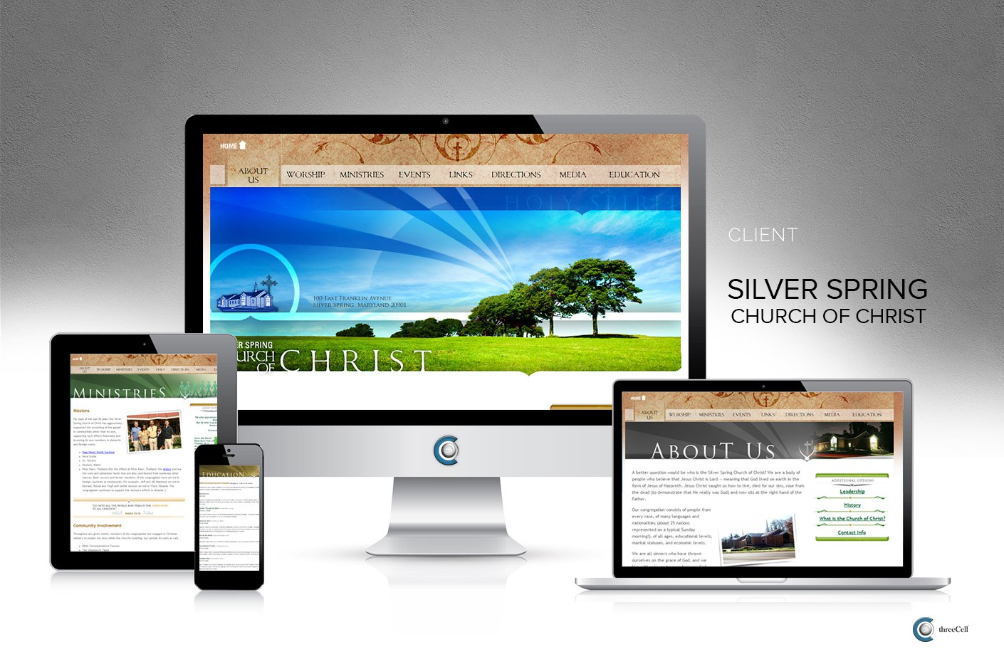 Silver Spring Church of Christ - Website - ThreeCell Web Design