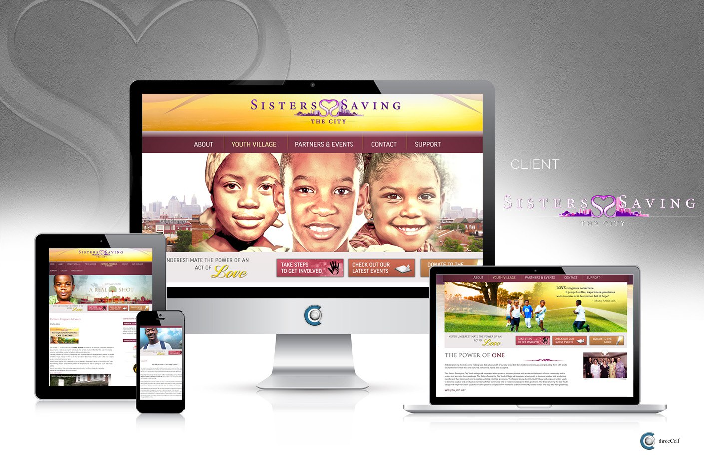 Sisters Saving the City - Website - ThreeCell Web Design