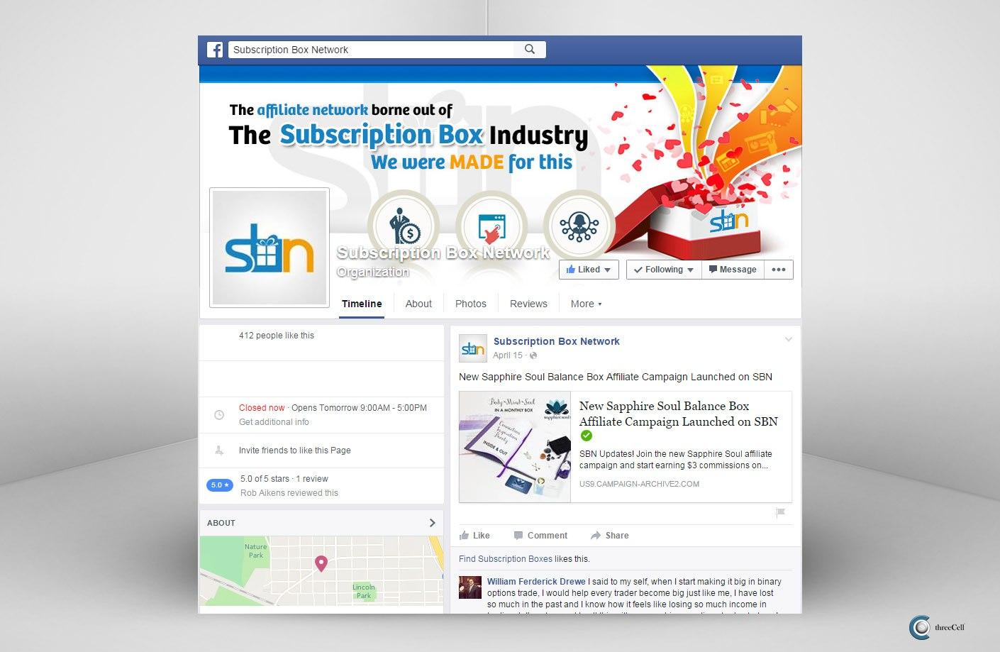 Subscription Box Network - Facebook Social Media Design