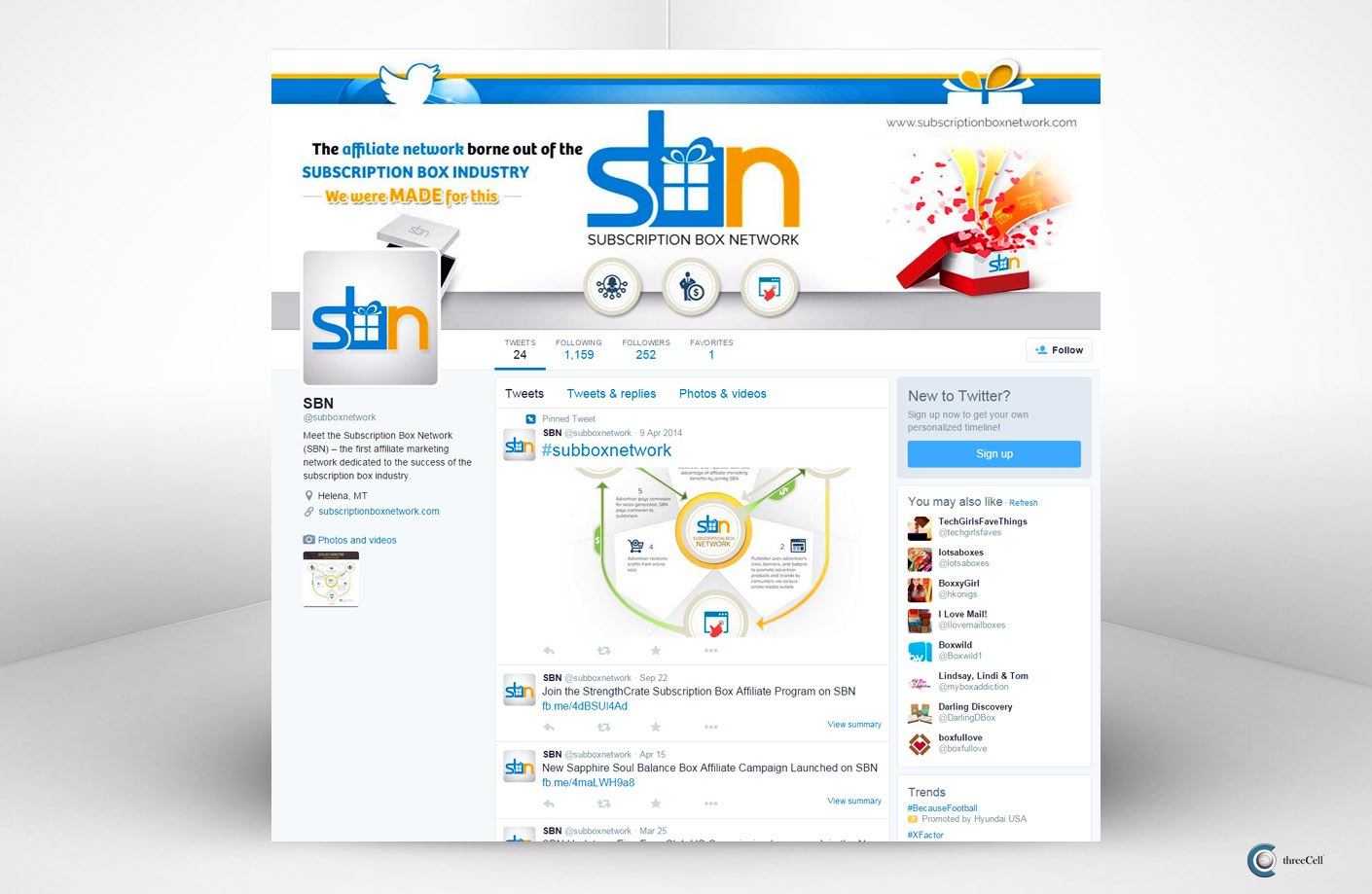Subscription Box Network - Twitter Social Media Design