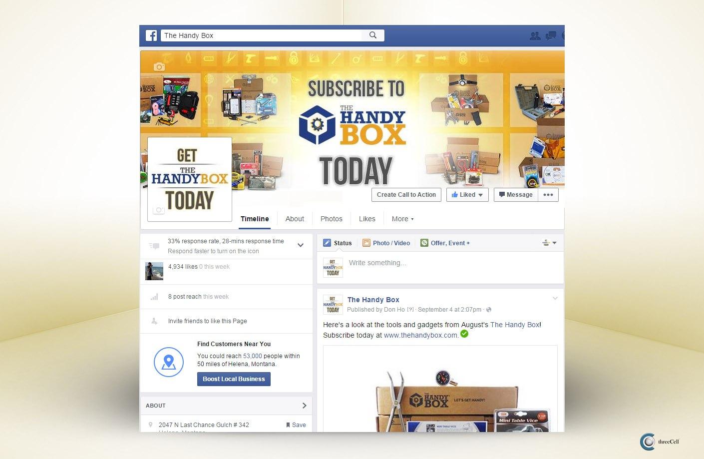 The Handy Box - Facebook Social Media Design