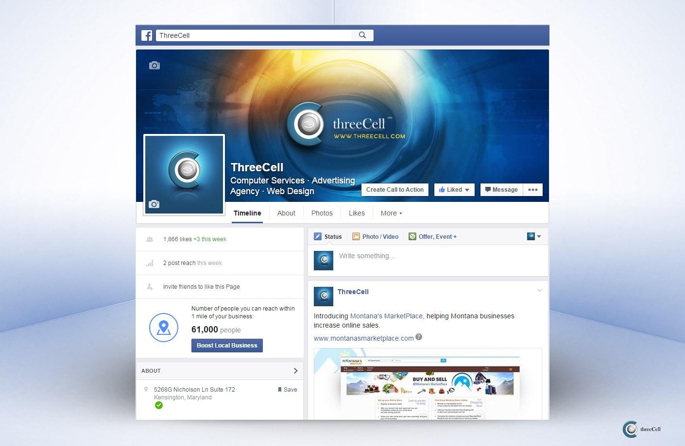ThreeCell - Facebook Social Media Design