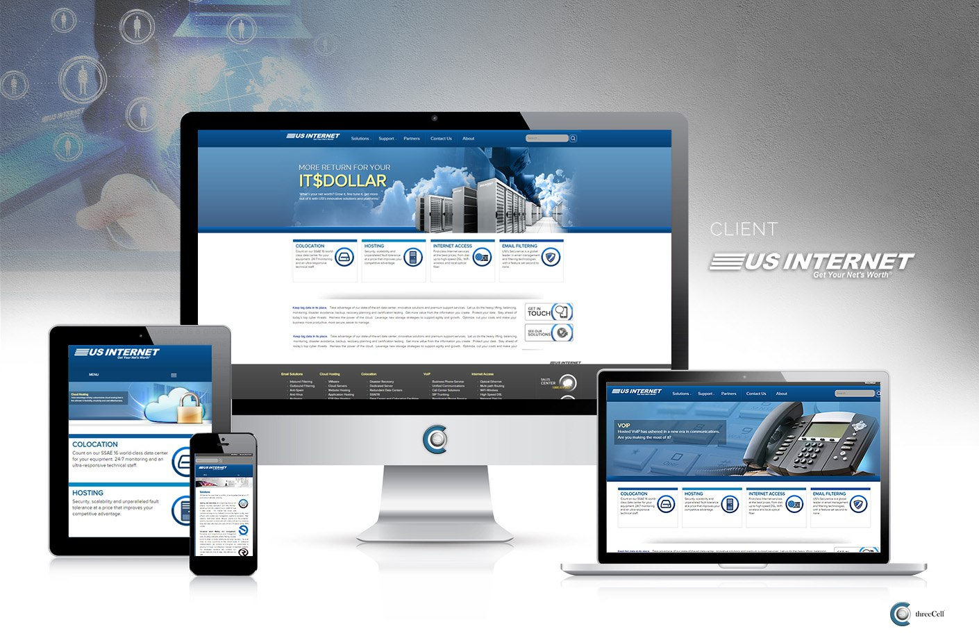 US Internet - Website - ThreeCell Web Design