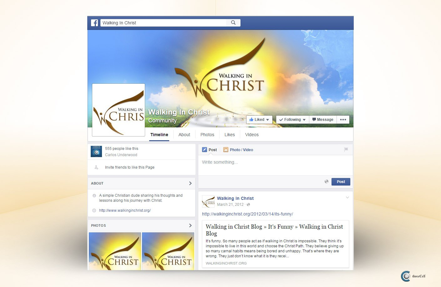 Walking in Christ - Facebook Social Media Design