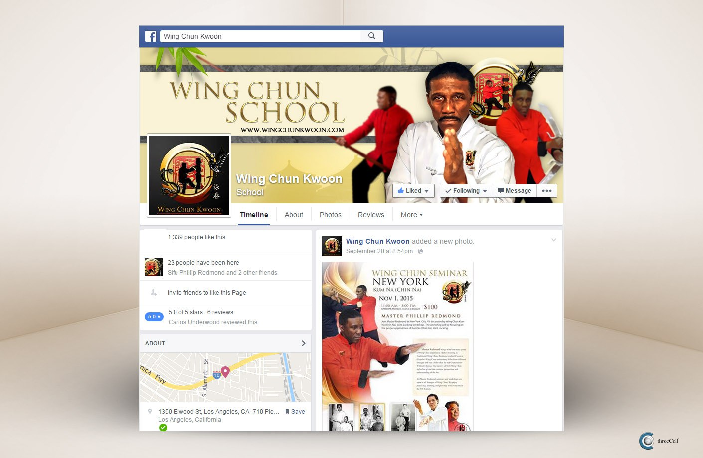 Wing Chun Kwoon - Facebook Social Media Design