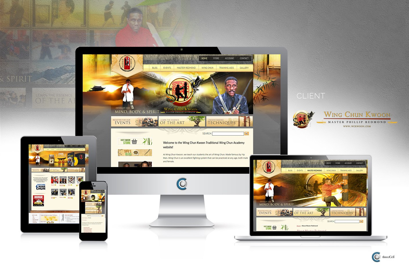 Wing Chun Kwoon - Website - ThreeCell Web Design