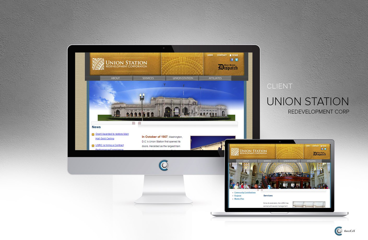 Union Station Redevelopment Corporation - ThreeCell Website